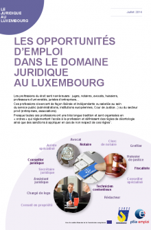 Emploi juridique Luxembourg