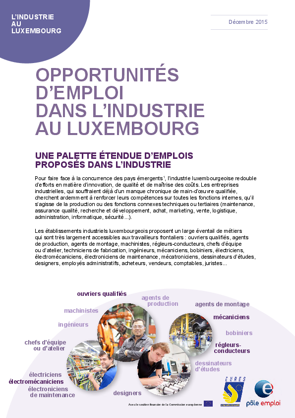 2017 Secteur Industrie Luxembourg