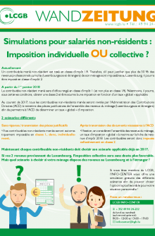Imposition individuelle ou collective Luxembourg LCGB 2017